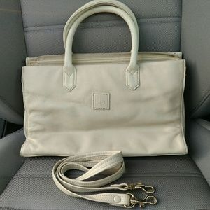 Giani Bernini White leather Shoulder Purse